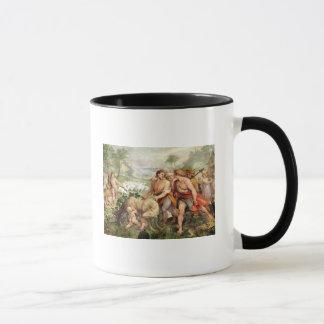 Romulusは彼女オオカミによって授乳しました マグカップ