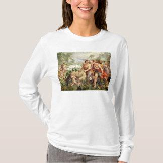 Romulusは彼女オオカミによって授乳しました Tシャツ