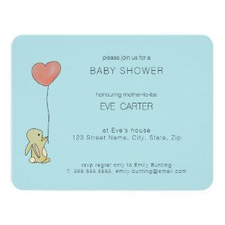 Rooのバニー-ハートの気球 カード