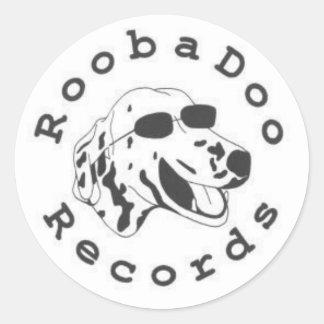 RoobaDooはステッカーのあたりに記録します ラウンドシール