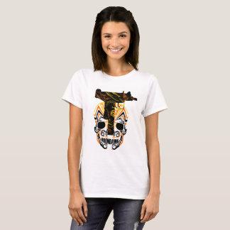 Roondawgのスカルn Uziの女性のティー Tシャツ