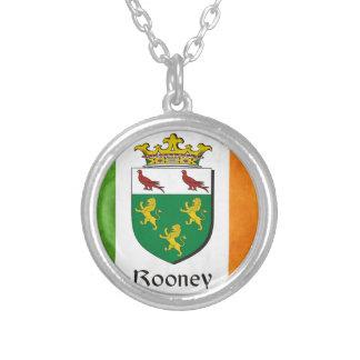 Rooneyのアイルランド人の旗 シルバープレートネックレス