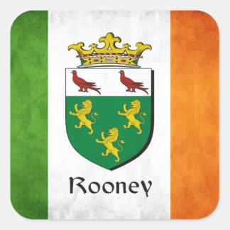 Rooneyのアイルランド人の旗 スクエアシール