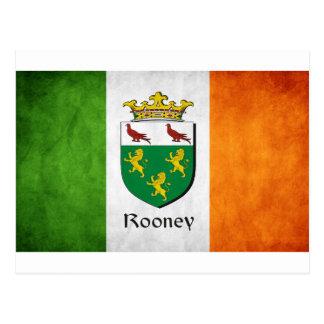 Rooneyのアイルランド人の旗 ポストカード