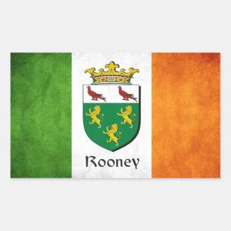 Rooneyのアイルランド人の旗 長方形シール