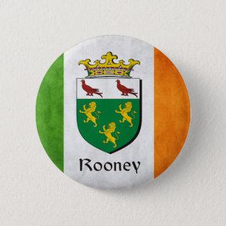 Rooneyのアイルランド人の旗 5.7cm 丸型バッジ
