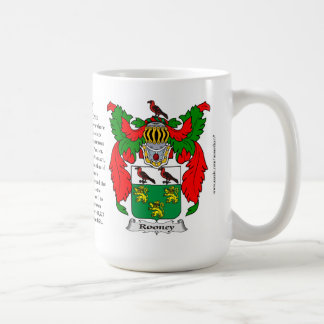 Rooney家族の紋章付き外衣 コーヒーマグカップ