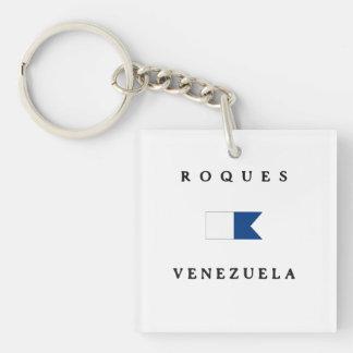 Roquesベネズエラのアルファ飛び込みの旗 キーホルダー