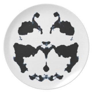 Rorschachのinkblot プレート