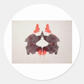 Rorschachテストインクしみのプレート2 2人の人間 ラウンドシール