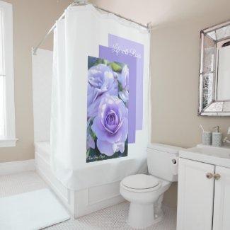 Rosa Blue Bajou シャワーカーテン