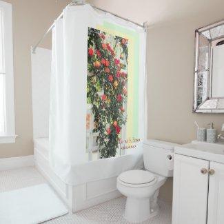 Rosa Climbing Charleston:Shower Curtain シャワーカーテン