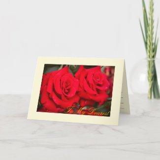 Rosa Kardinal:Greeting card カード