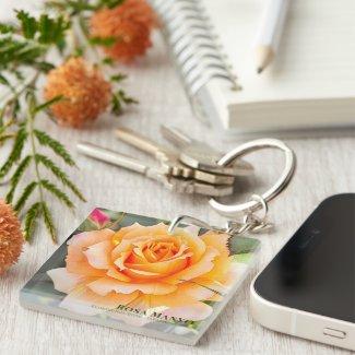 Rosa 'Manyo' [Acrylic Keychain] キーホルダー