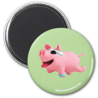Rosa the Pig does exercise マグネット