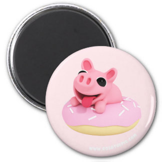 Rosa the Pig in a Donut マグネット