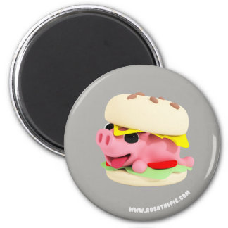 Rosa the Pig is a Burger マグネット