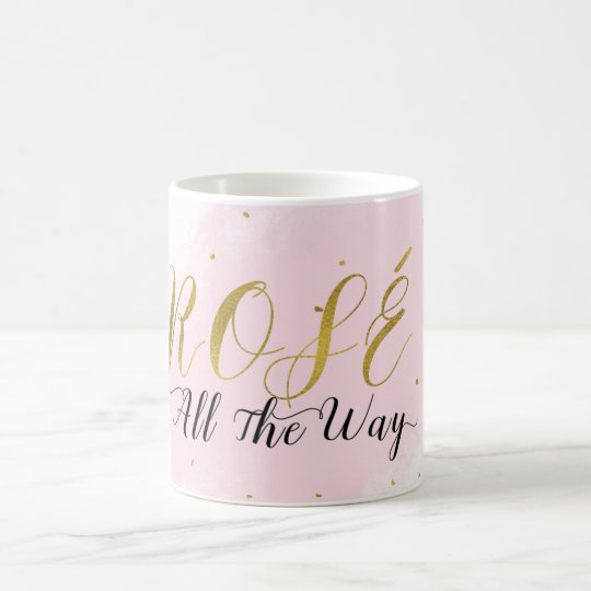 Roséのずっとピンク及び金ゴールドのワインのモダンな魅力 コーヒーマグカップ