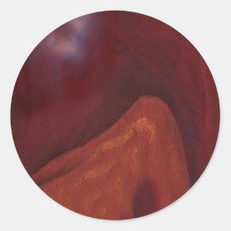 rose4山の内部の欲求 丸形シール・ステッカー