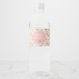 Rose Floral | Water Bottle Labels ペットボトルラベル