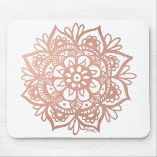 Rose Gold Mandala Mousepad マウスパッド