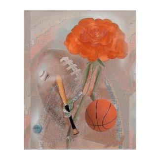 Rosegiftsのアスリートのバラのアクリルの壁芸術 アクリルウォールアート