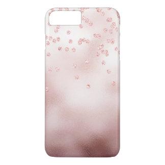 Rosegoldのグリッターの紙吹雪 iPhone 8 Plus/7 Plusケース