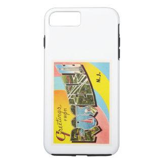 RoselleニュージャージーNJの古いヴィンテージ旅行郵便はがき iPhone 8 Plus/7 Plusケース