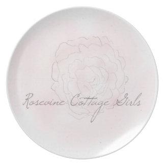 Rosevineのコテージの女の子のキャベツバラのプレート プレート