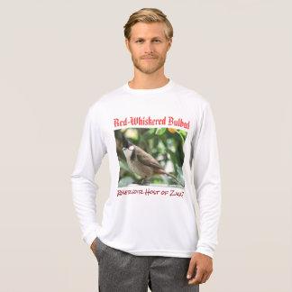 RoseWrites著ヒヨドリ科のZikaの赤Whiskeredホスト Tシャツ