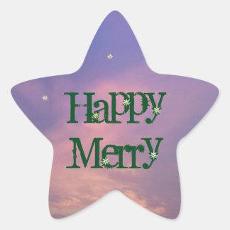 RoseWrites著幸せでメリーな星のステッカー 星シール