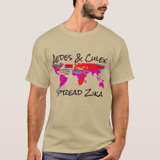 RoseWrites著AedesおよびCulexの広がりのZikaのワイシャツ Tシャツ