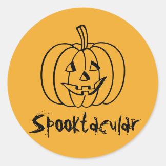 RoseWrites著Spooktacularのカボチャステッカー ラウンドシール
