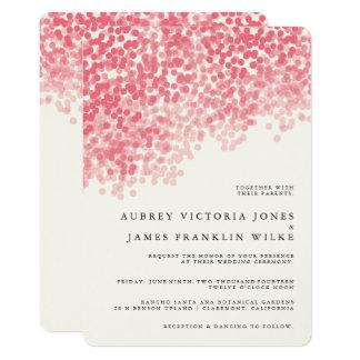Roseyライトシャワー|の素朴な結婚式招待状 カード
