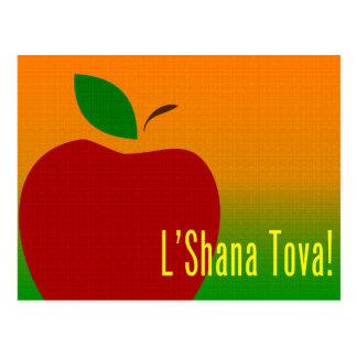 roshのhashanahのl'shanaのtovaのりんご ポストカード