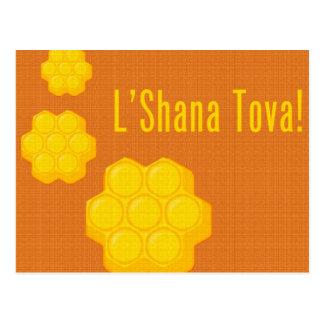 roshのhashanahのl'shanaのtovaの蜜蜂の巣 ポストカード