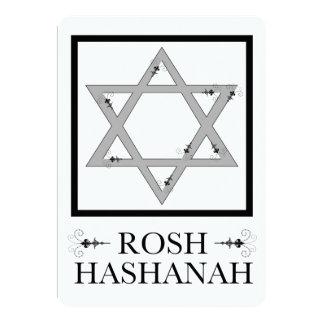 roshのhashanah (ダビデの星) カード