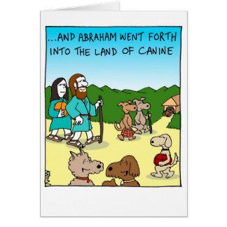 Rosh Hashanah -イヌ科動物の土地のためのおもしろカード グリーティングカード