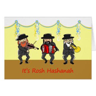 Rosh Hashanah、ユダヤ人の新年のためのKlezmerバンド カード