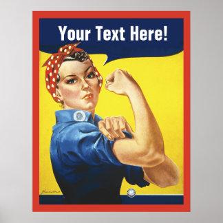 Rosieのリベッターはとの文字をカスタマイズ ポスター