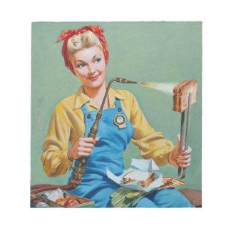 Rosieはリベッター焼かれたチーズを作ります ノートパッド