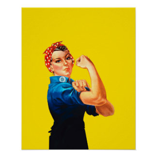 Rosieリベッターのレトロのスタイルアイコン ポスター