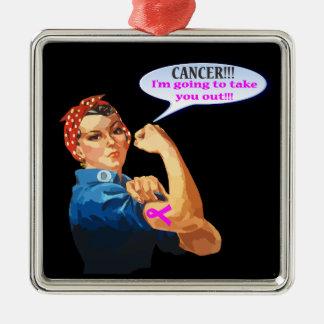 Rosieリベッターの乳癌の慈善のデザイン メタルオーナメント