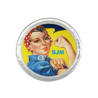 Rosieリベッターの写真のリング-あなたのイニシャルを加えて下さい 指輪
