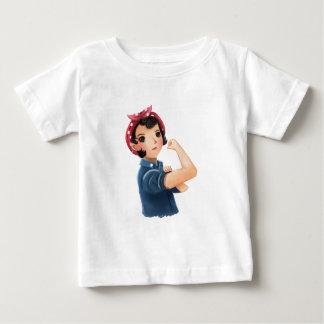 rosieリベッターの女性私達はそれをしてもいいです! WWII ベビーTシャツ