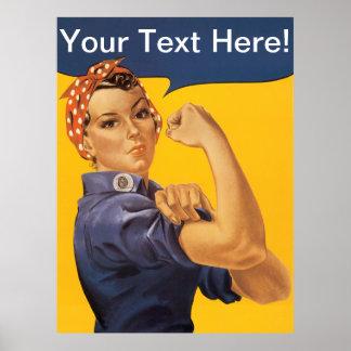 Rosieリベッター私達はそれをしてもいいです! カスタマイズ可能な文字 ポスター