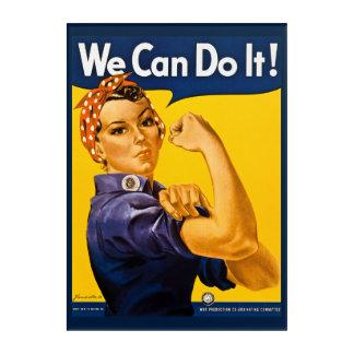Rosieリベッター私達はそれをしてもいいです! ヴィンテージWWII アクリルウォールアート