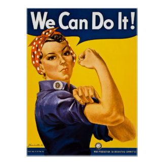 Rosieリベッター私達はそれをしてもいいです!  ヴィンテージWWII ポスター