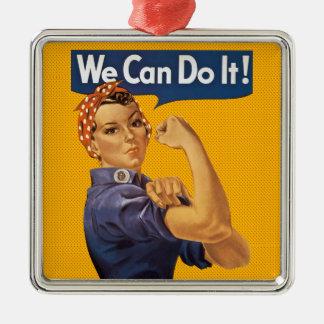 Rosieリベッター私達はそれをしてもいいです! 赤い水玉模様 メタルオーナメント
