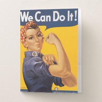 Rosieリベッター私達は働くWWIIの女性それをしてもいいです ポケットフォルダー